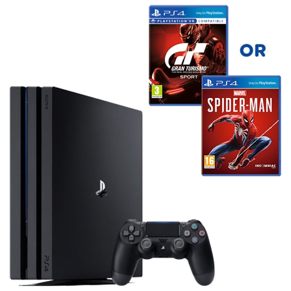 PS4 Pro 1TB Black Console & Select Game