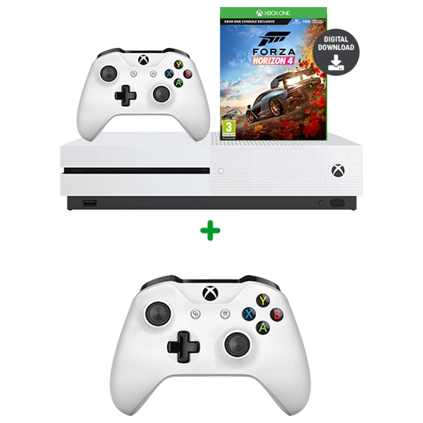 Xbox One S 1TB Forza Bundle & Extra Controller