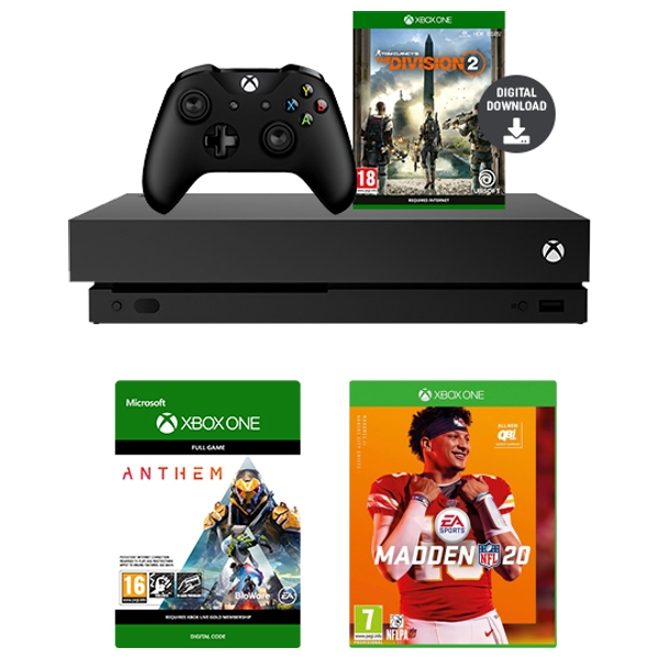 Xbox One X 1TB The Division 2 Bundle, Anthem Download & Any Game