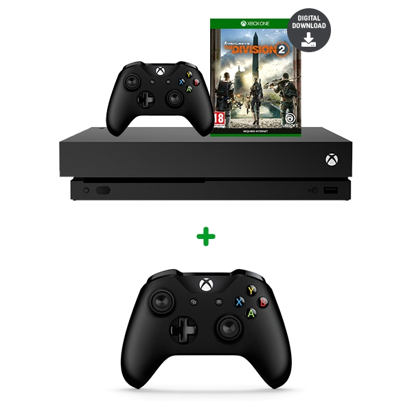 Xbox One X 1TB The Division 2 Bundle & Extra Controller