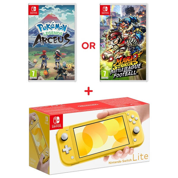 Nintendo Switch Lite Yellow & Select Game
