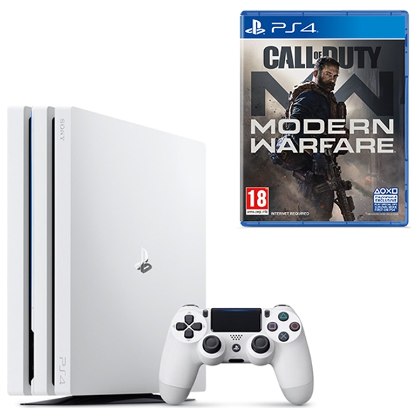 PS4 Pro 1TB White Console & Call of Duty Modern Warfare
