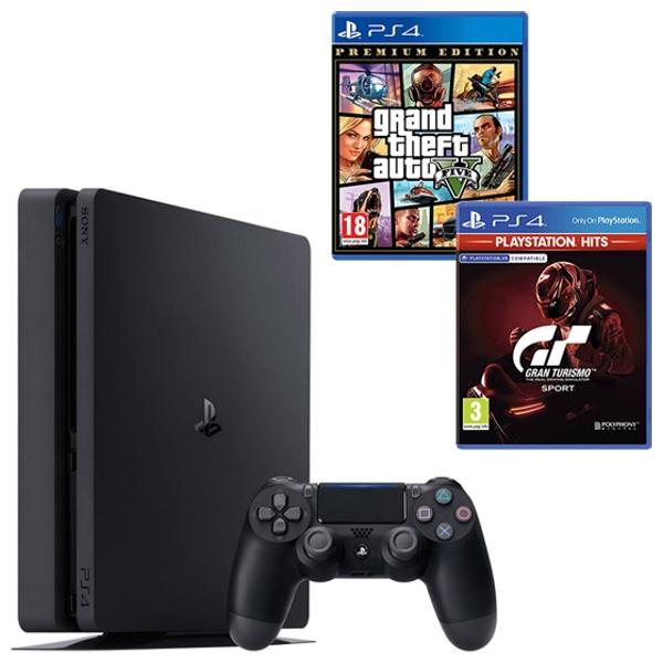 PS4 500GB Black, GTA V & Select Game