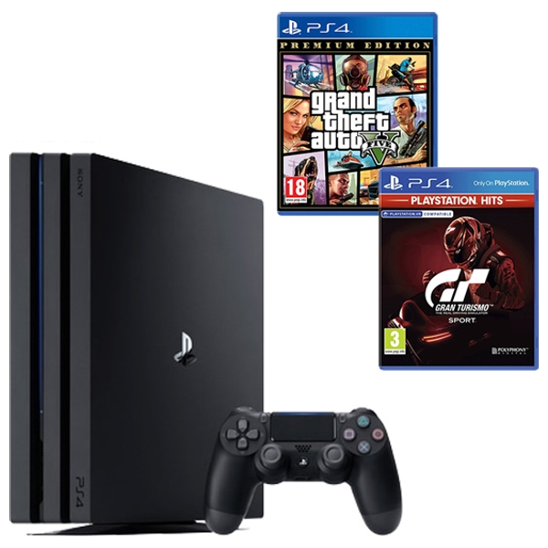 PS4 Pro Black, GTA V & Select Game