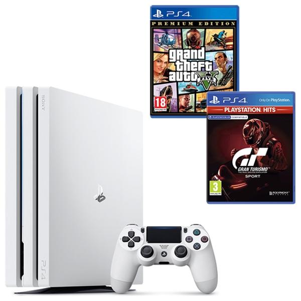 PS4 Pro White, GTA V & Select Game
