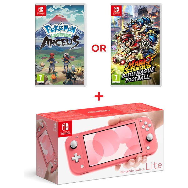 Nintendo Switch Lite Coral & Select Game