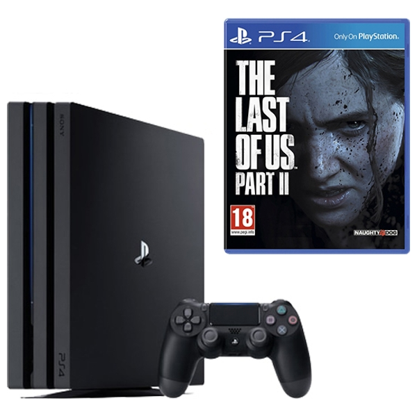 PS4 Pro Black & The Last of Us Part II