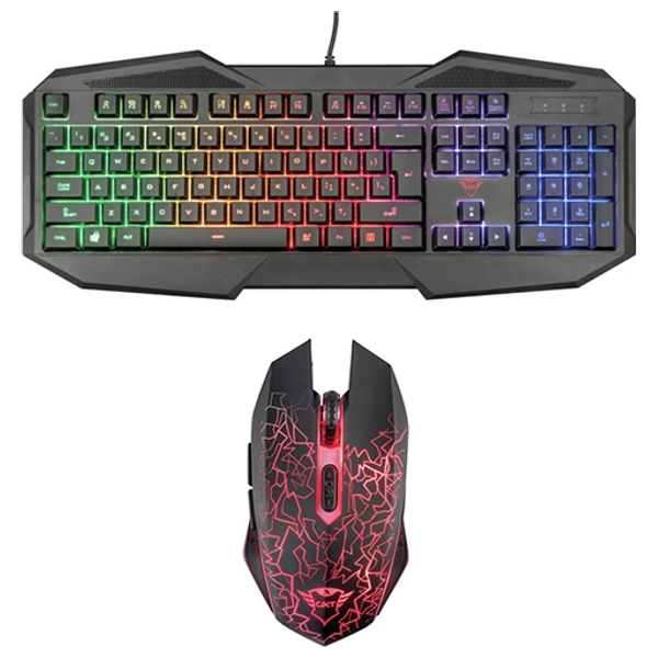 Avonn Gaming Keyboard & Trust GXT 107 Izza Wireless Optical Gaming Mouse