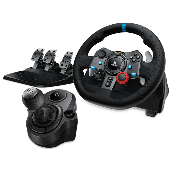 Logitech G29 Driving Force Racing Wheel for PlayStation4 and PC + Force Shifter