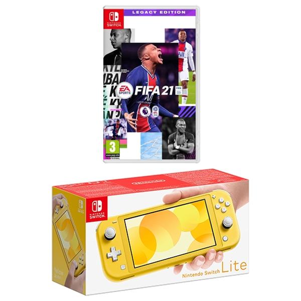 Nintendo Switch Lite Yellow & FIFA 21