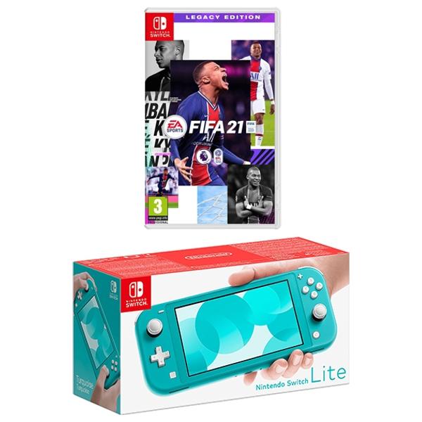 Nintendo Switch Lite Turquoise & FIFA 21