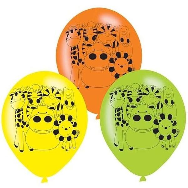 Partybedarfpartydeko - Amscan Latexballons Dschungeltiere, 6 Stk. - Onlineshop Smyths Toys