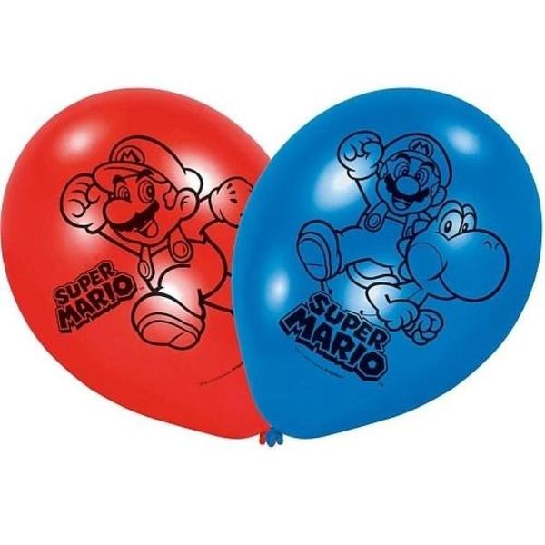 Partybedarfpartydeko - Super Mario Latexballons, 6 Stk. - Onlineshop Smyths Toys