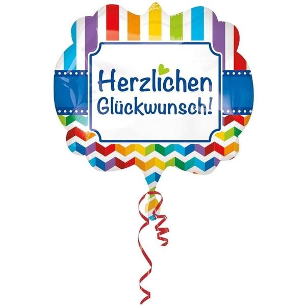Partybedarfballons - Amscan Folienballon Super Shape, Herzlichen Glückwunsch - Onlineshop Smyths Toys