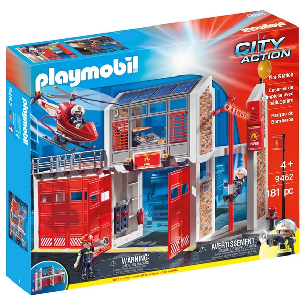 Playmobil 9462 City Action Fire Station with Fire Alarm