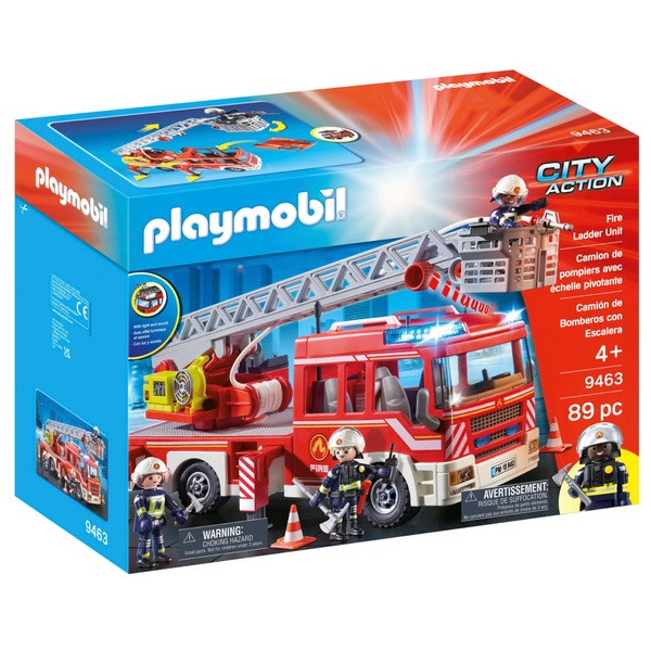 Playmobil 9463 City Action Fire Truck with Extendable Ladder