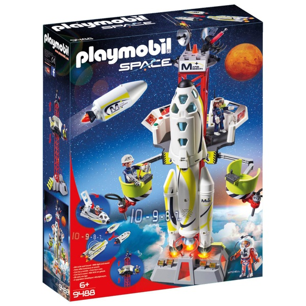 Playmobil 9488 Space Mission Rocket with Launch Site with Lights and Sound