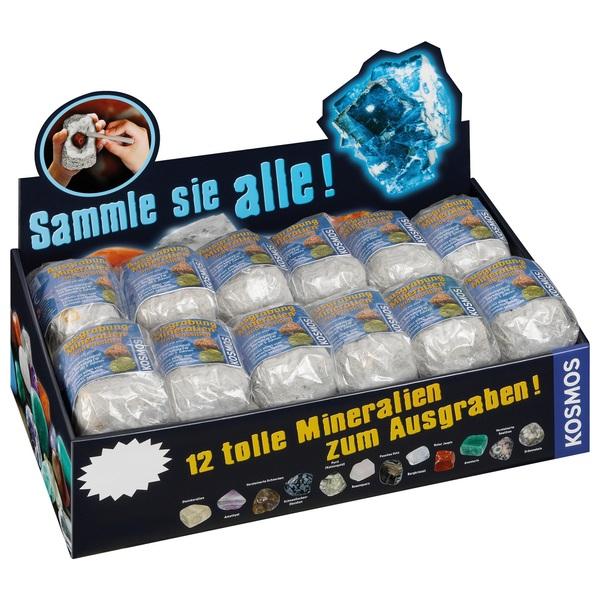 Kosmos - Mini-Ausgrabungsset Mineralien & Fossilien, sortiert