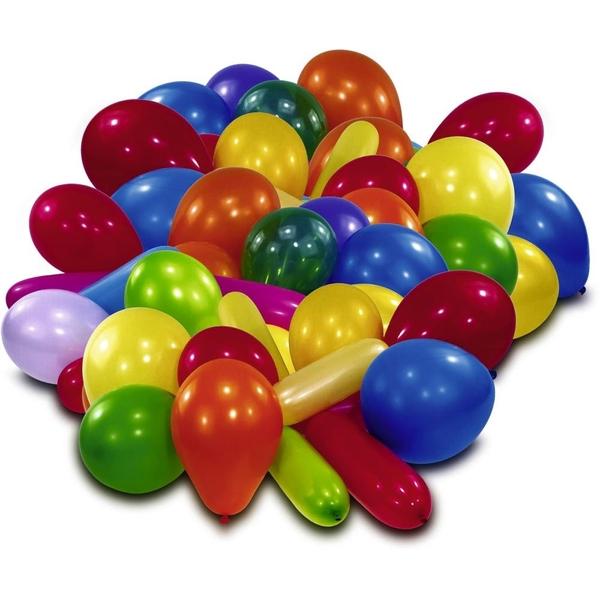 Partybedarfballons - Latexballons im Beutel, 50 Stk., sortiert - Onlineshop Smyths Toys