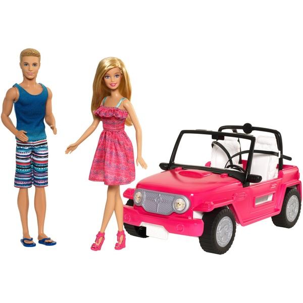 Barbie Beach Cruiser Vehicle with Dolls
