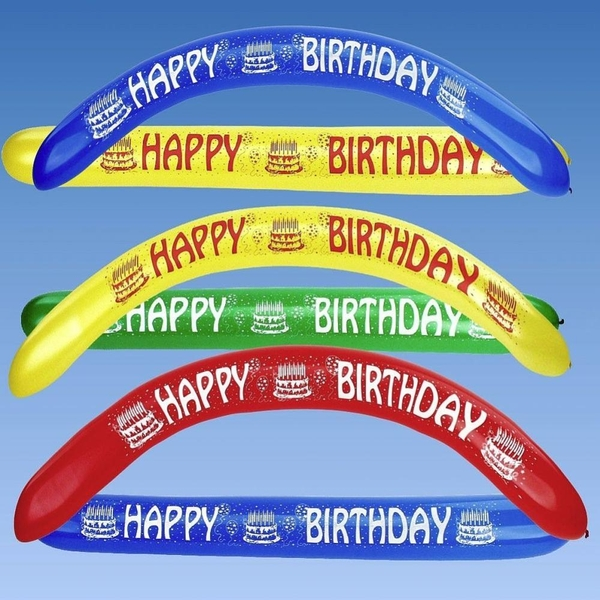 Partybedarfballons - Riethmüller Bannerballons Happy Birthday, 2 Stk. - Onlineshop Smyths Toys