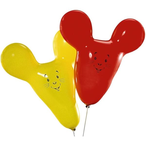 Partybedarfballons - Riethmüller Latexballons, Maus, 2 Stk. - Onlineshop Smyths Toys