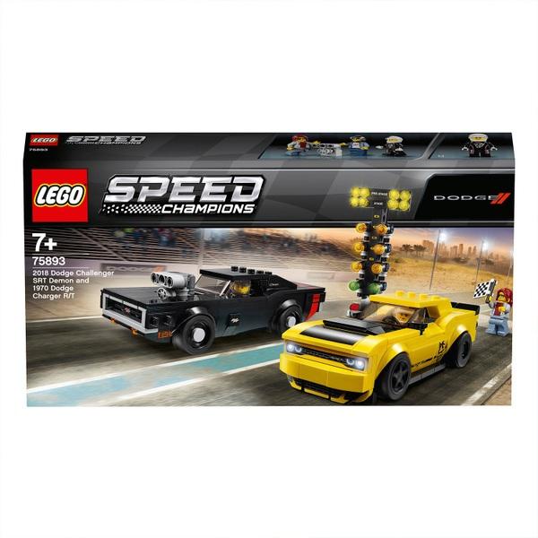 LEGO 75893 2018 Dodge Challenger & 1970 Dodge Charger Race Set