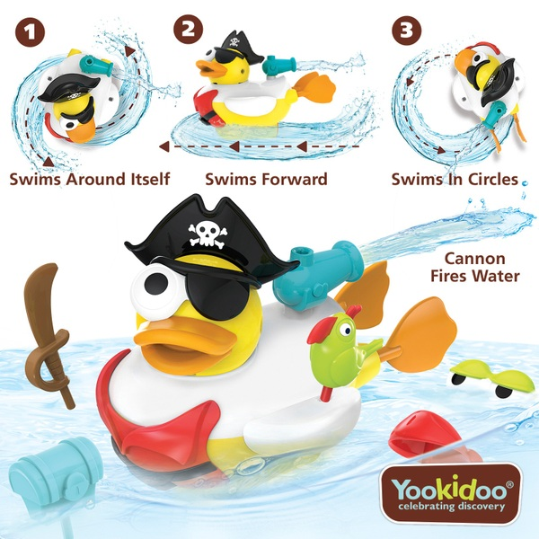 Yookidoo Jet Duck Create A Pirate Bath Toys Uk