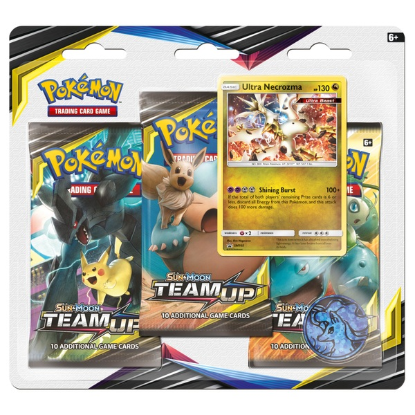 Pokémon Trading Card Game: Sun and Moon— Team Up Three Booster Blister