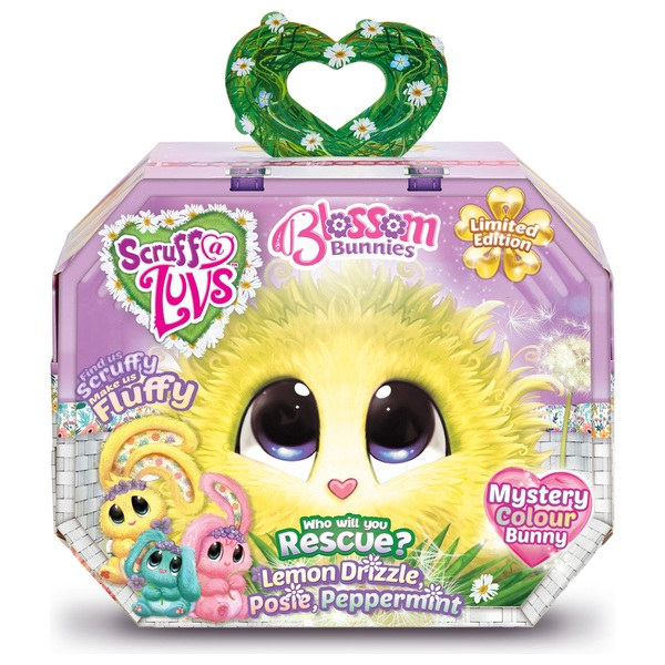 Scruff -a-Luvs Blossom Bunnies Mystery Colour Soft Toy - Lemon Drizzle, Pos