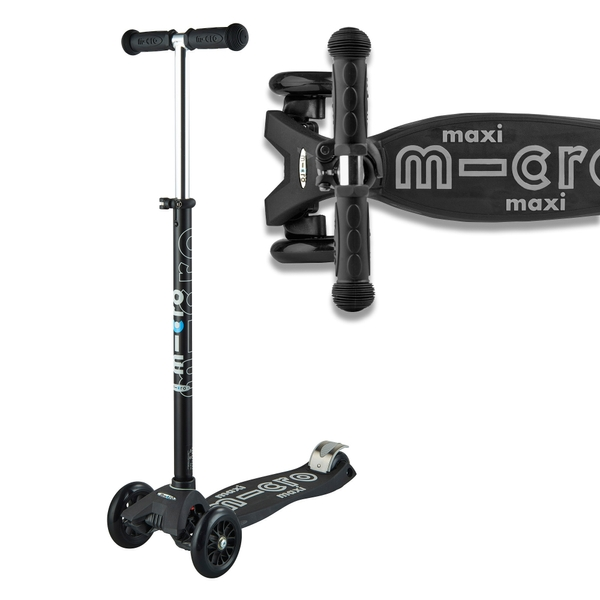 Maxi Micro Deluxe Scooter Black/Grey