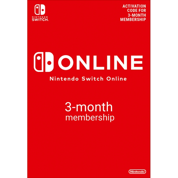 Nintendo Switch 3 Months Individual Online Membership (Digital Download)