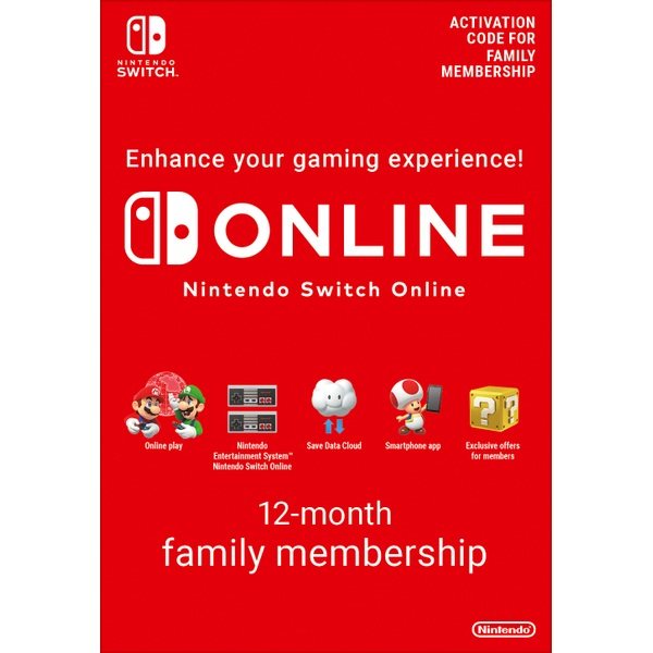 365 Days Subscription Of Nintendo Switch Online Family Membership