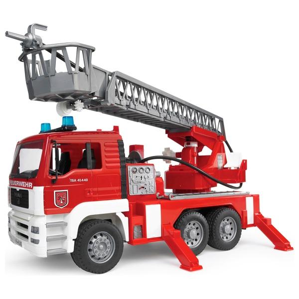 Bruder - MAN TGA Feuerwehr mit Drehleiter & Wasserpumpe