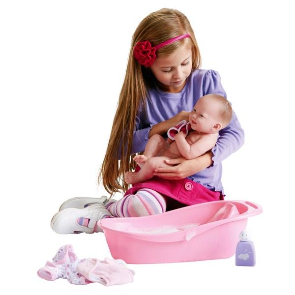 La Newborn - Geschenkset Puppe mit Badewanne
