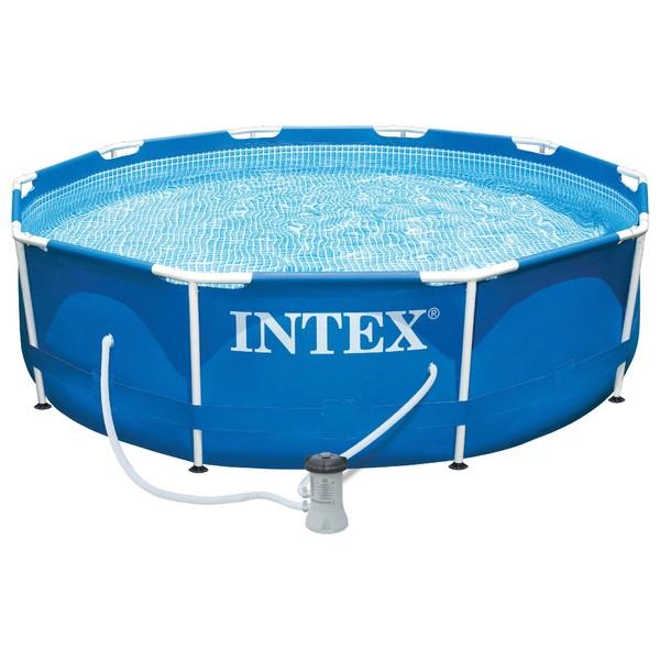 Intex Frame Pool Mit Pumpe ø 305 X 76cm Pools Planschbecken