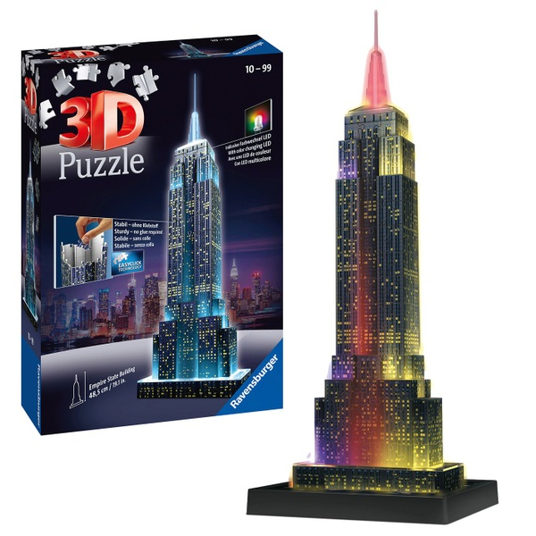 Ravensburger - 3D Puzzle Night Edition: Empire State Building bei Nacht, 216 Teile