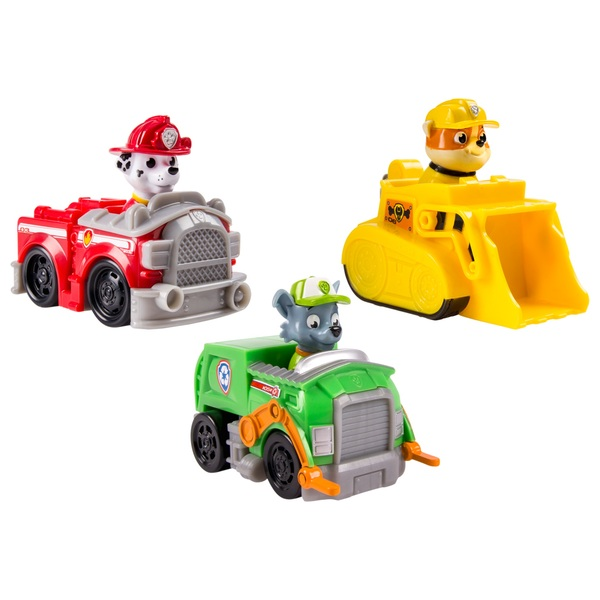 Paw Patrol - Rescue Racers: Marshall, Rocky und Rubble