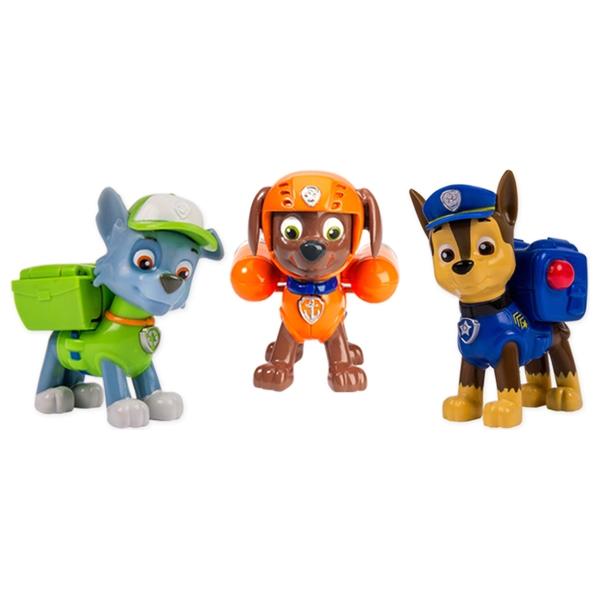 Paw Patrol - Action Pack mit Hundewelpen Chase, Rocky und Zuma