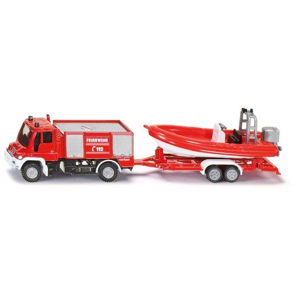 SIKU Super - 1636: Unimog Feuerwehr mit Boot