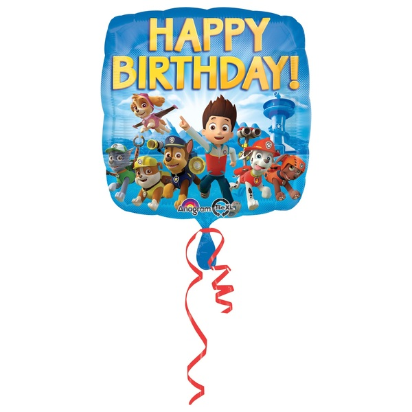 Paw Patrol - Folienballon Happy Birthday