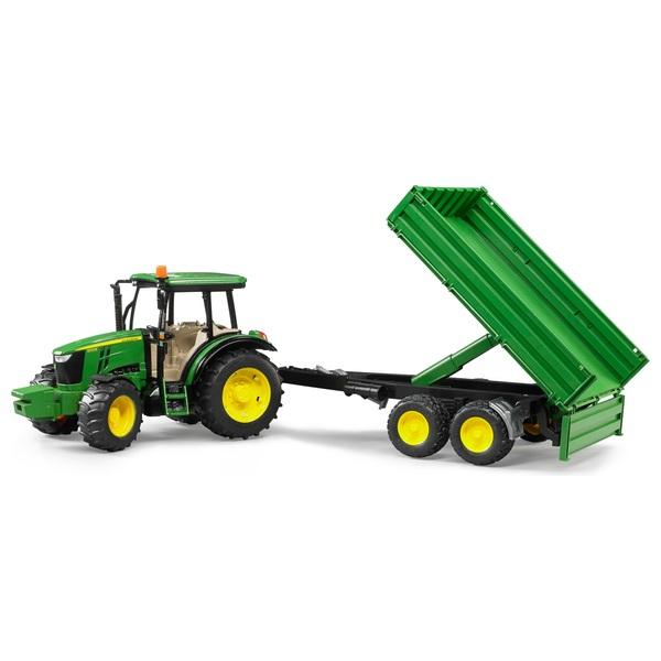 Bruder - John Deere Traktor 5115M mit Bordwandanhänger