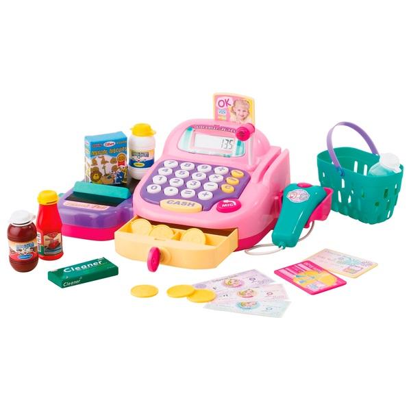 Elektronische Supermarktkasse, pink