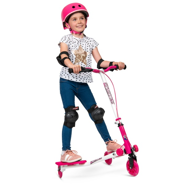 Sporter 1 - pinker Scooter mit LED-Leuchten