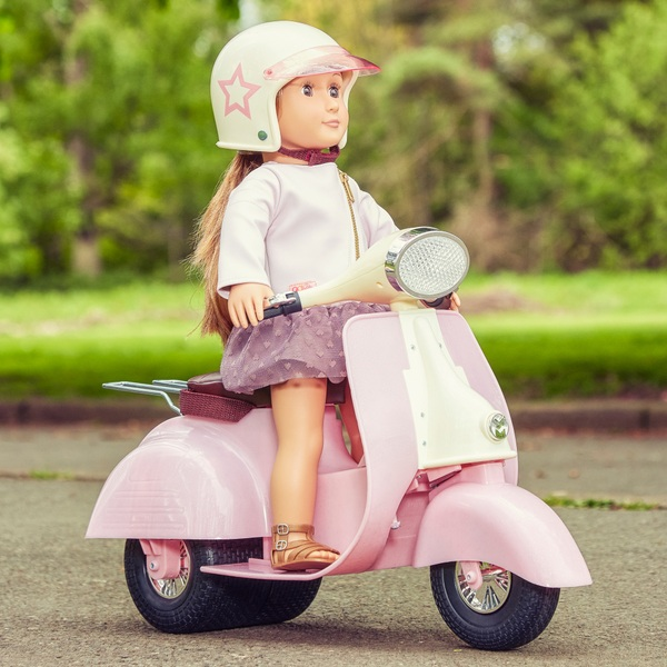 Our Generation - Puppen-Scooter mit Helm, rosa