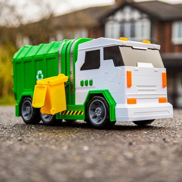 Müllfahrzeug mit Licht und Sound
