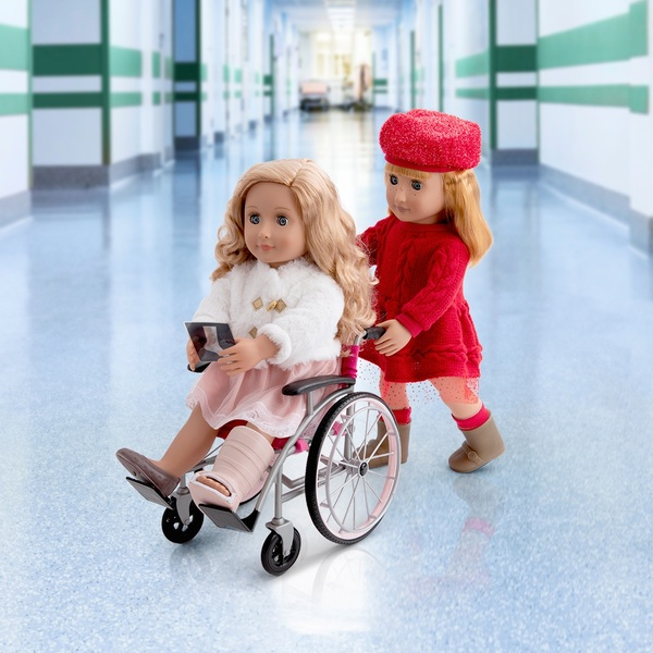 Our Generation - Pflege-Set mit faltbarem Rollstuhl