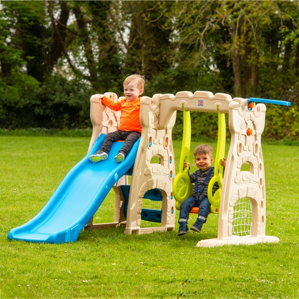 Grow'n Up - Scramble N Slide Playcenter mit Rutsche und Schaukel