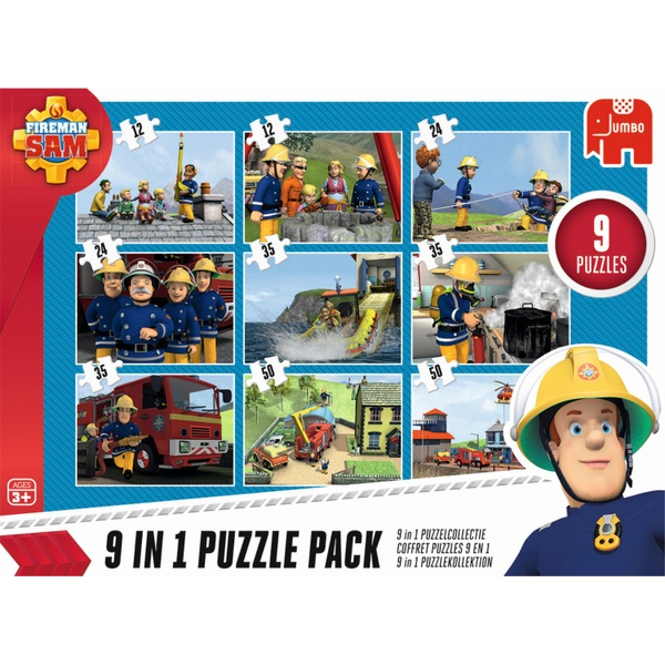 JUMBO - Puzzle Pack: Feuerwehrmann Sam, 9 in 1