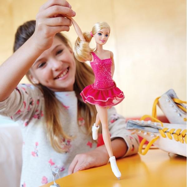 Barbie - Eiskunstläuferin Puppe blond